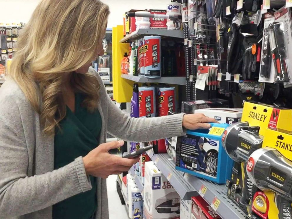 PHOTO: During her own experiment of buying high and selling low, which aired on Good Morning America, tech contributor Becky Worley downloaded the Amazon seller app to my phone and headed to a local superstore.