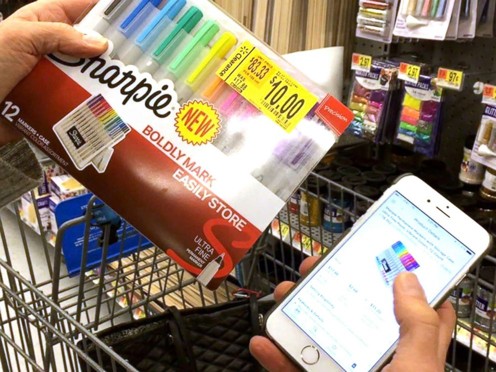 PHOTO: During her own experiment of buying high and selling low, which aired on Good Morning America, tech contributor Becky Worley found a set of Sharpie pens marked down to $10. On Amazon, they are selling for $17.89.