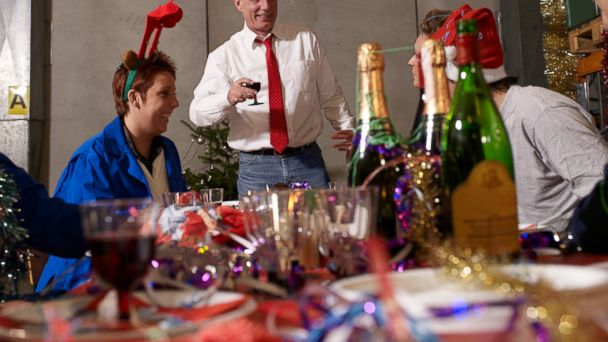An office party is seen in this undated stock photo.