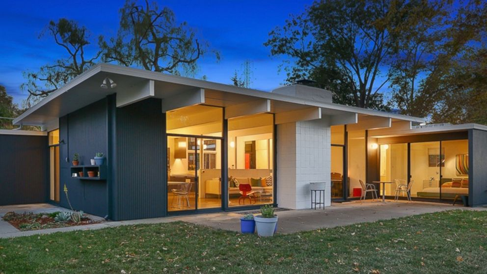 Mid century homes for sale photos abc news for Creek house