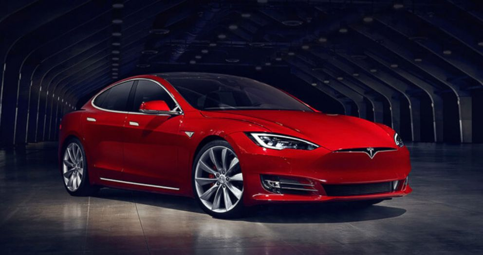 PHOTO: A Telsa Model S car is displayed in this undated image.