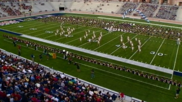 VIDEO: Allen High School kicks off the athletic season at its new football stadium.