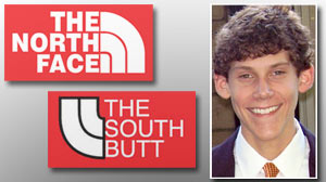 Photo: The North Face vs. The South Butt: Entrepreneurial Teen Not Daunted by Lawsuit Threat: Jimmy Winkelmann