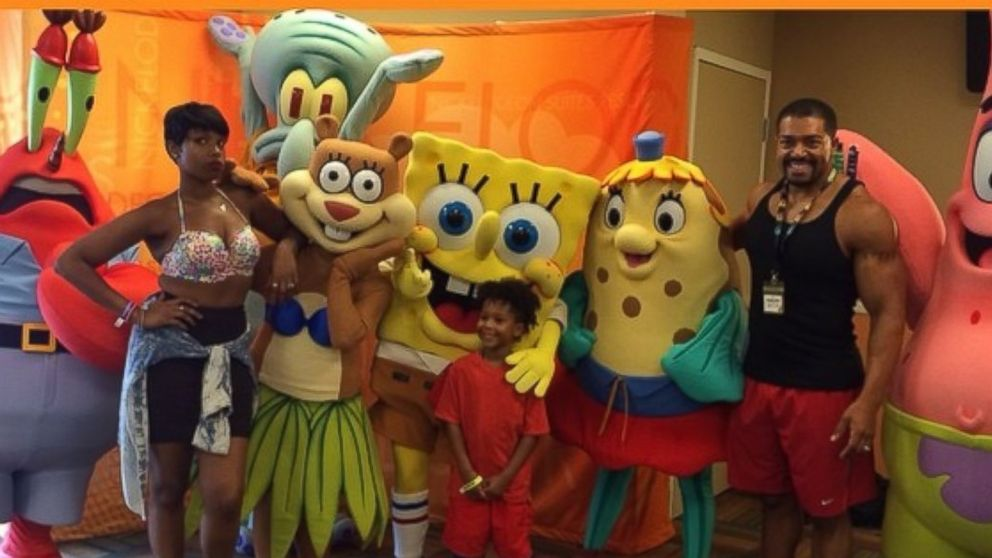 PHOTO: Jennifer Hudson and David Otunga threw their son a birthday party with a surprise visit from Sponge Bob, in a photo shared to Instagram, Aug. 10, 2014.