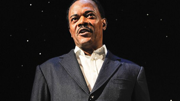 "PHOTO: Samuel L. Jackson in hi portrayal of Martin Luther King in ""Mountaintop"" at The Bernard B. Jacobs Theatre on December 21, 2011 in New York City."