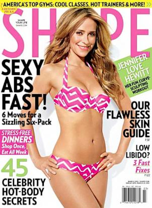 Jennifer Love Hewitt graces the March 2013 cover of 'Shape.'