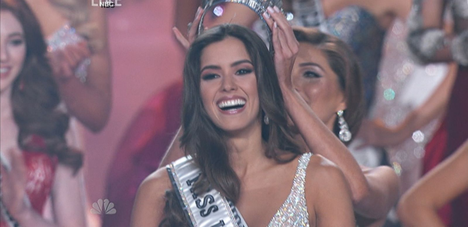 VIDEO: Paulina Vega, 22, from Colombia beat out first runner-up Miss USA to take the crown in the annual pageant.