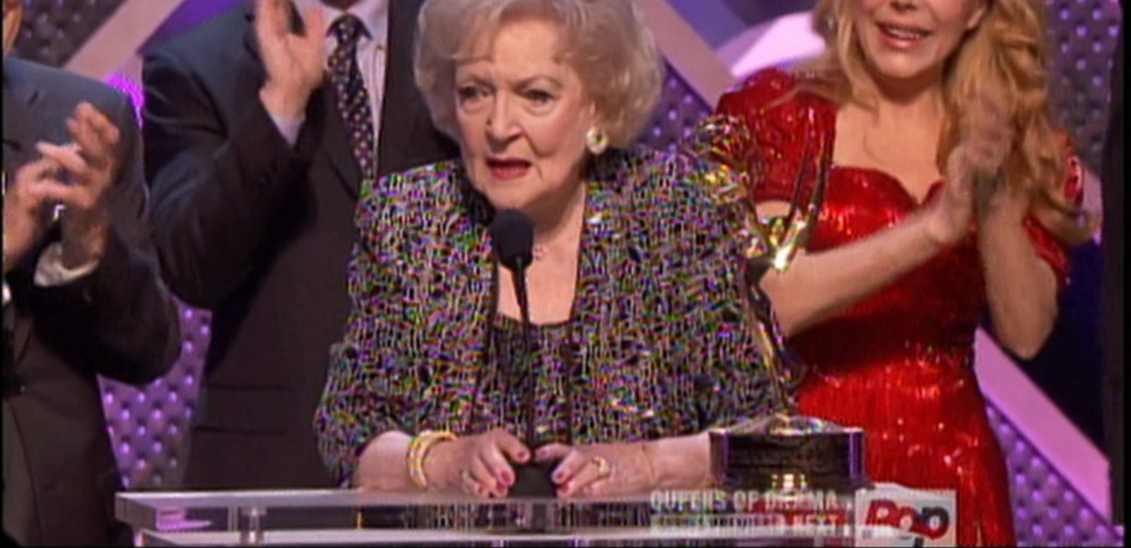 VIDEO: Betty White was recognized with a lifetime achievement award at Sunday's night's show.