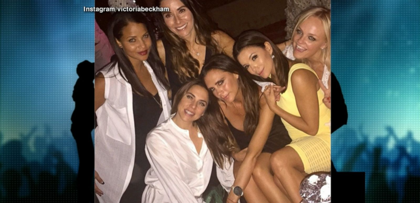 VIDEO: Actress Eva Longoria also joined the women for a celebration of Beckham's birthday milestone.