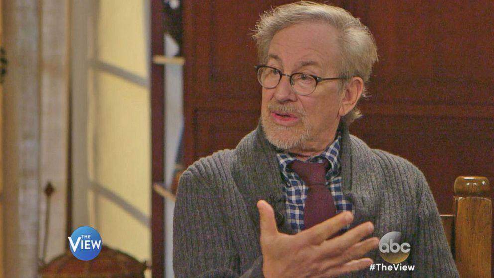 steven spielberg talks with whoopi goldberg about his