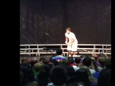 Watch:  Teen's Water Bottle Flip at High School Talent Show Explodes on Internet