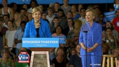 VIDEO: The View Exclusive: Senator Elizabeth Warren Discusses Campaigning With Hillary Clinton, Trump & More