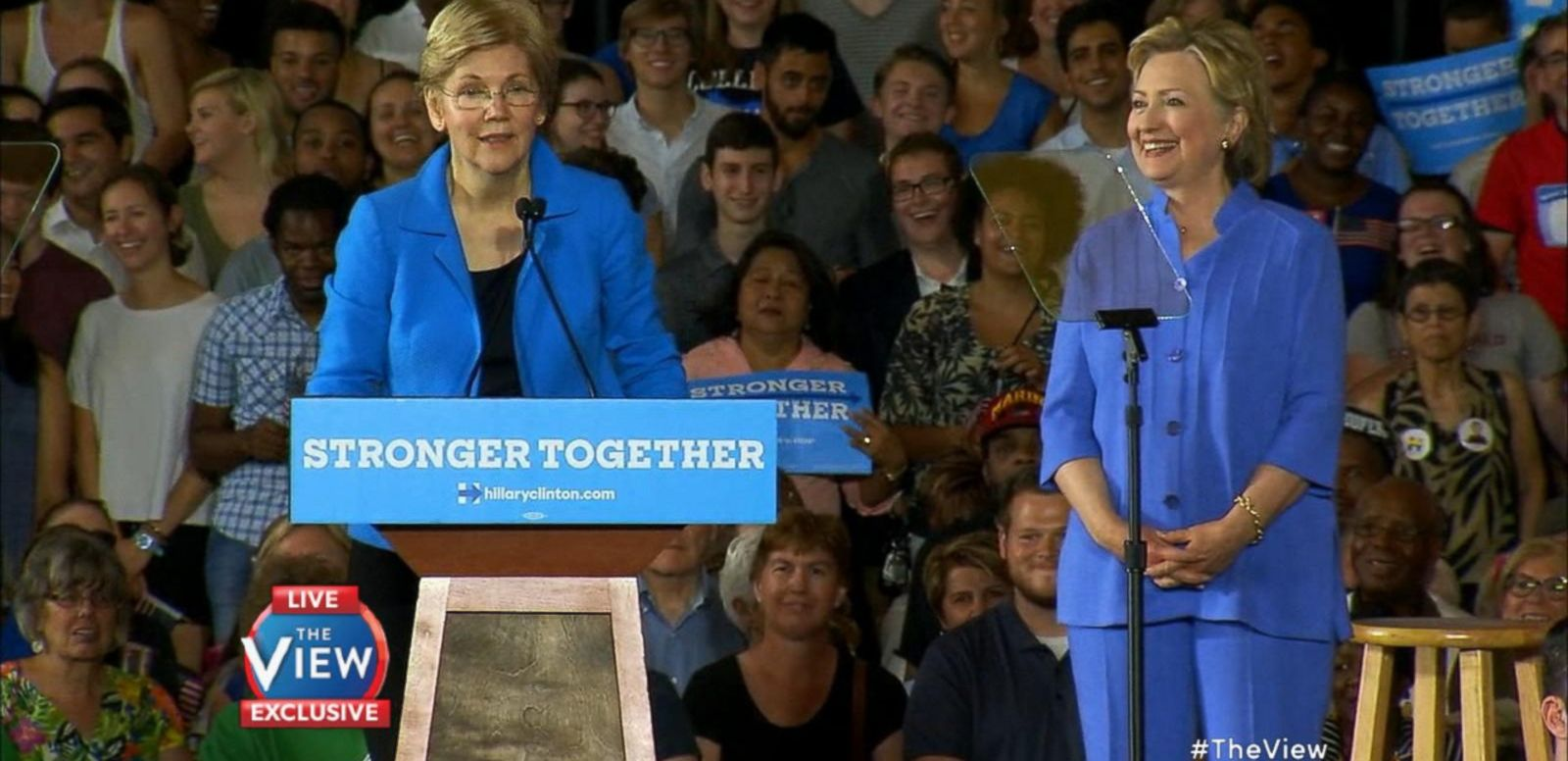 VIDEO: 'The View' Exclusive: Senator Elizabeth Warren Discusses Campaigning With Hillary Clinton, Trump & More