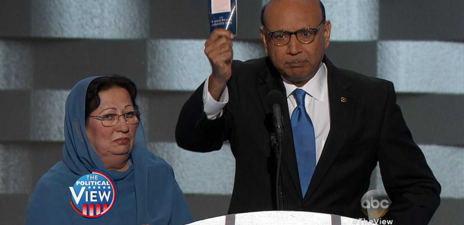 VIDEO: Father of Muslim Fallen Soldier Blasts Trump at DNC