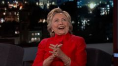 Hillary Clinton took on two controversial topics in a late-night interview on ABCs Jimmy Kimmel Live on Monday.