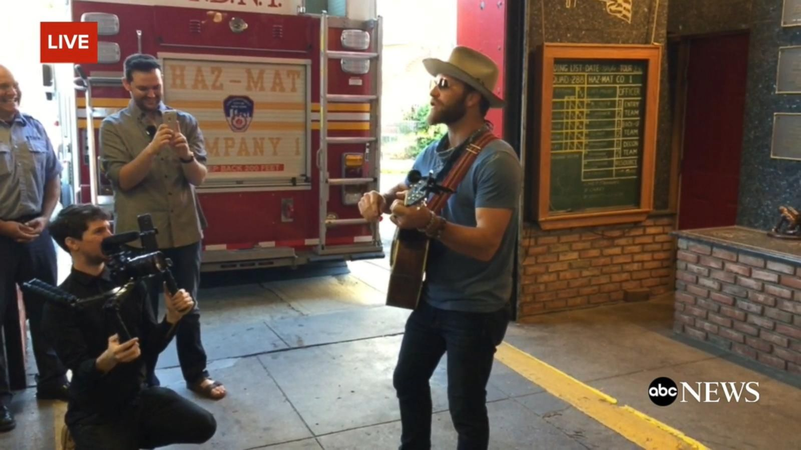 VIDEO: Drake White Kicks Off Charity Tour with New York Firefighters