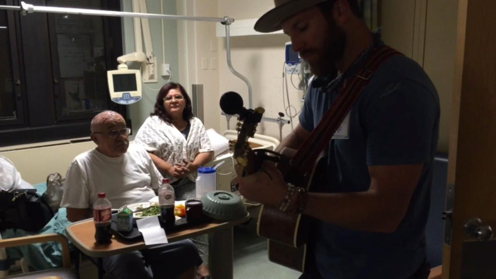 VIDEO: Drake White Visits Patients at the Denver VA Hospital