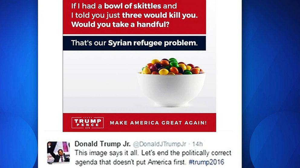 Donald Of Refugee Tweets Comparison Crisis To Trump Jr.