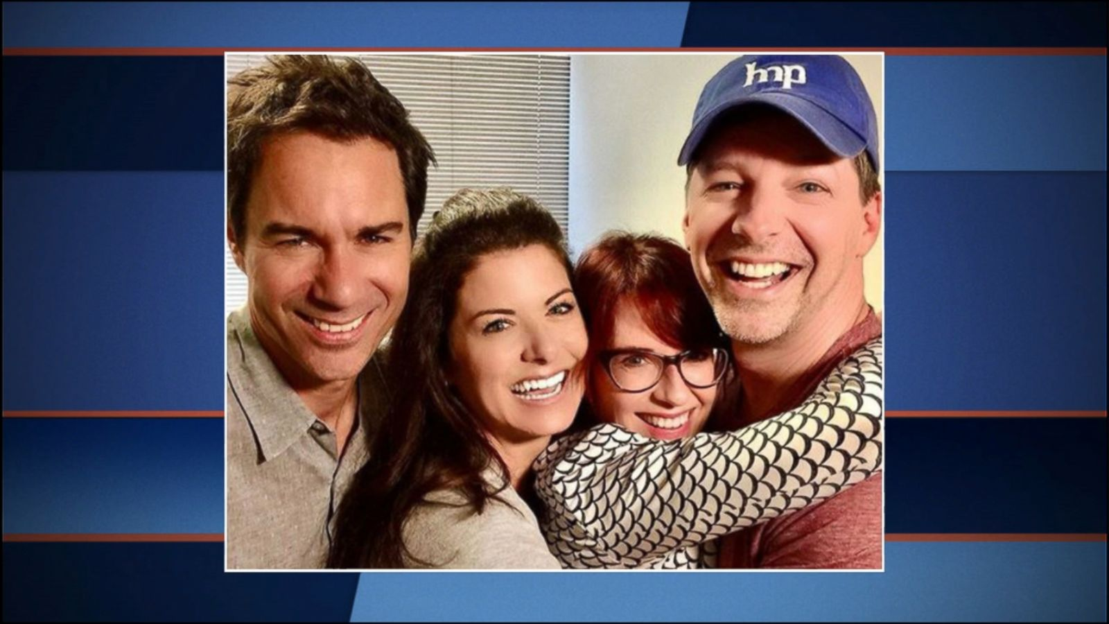 VIDEO: Sean Hayes, Megan Mullally, Debra Messing and Eric McCormack were photographed together to the delight of fans.