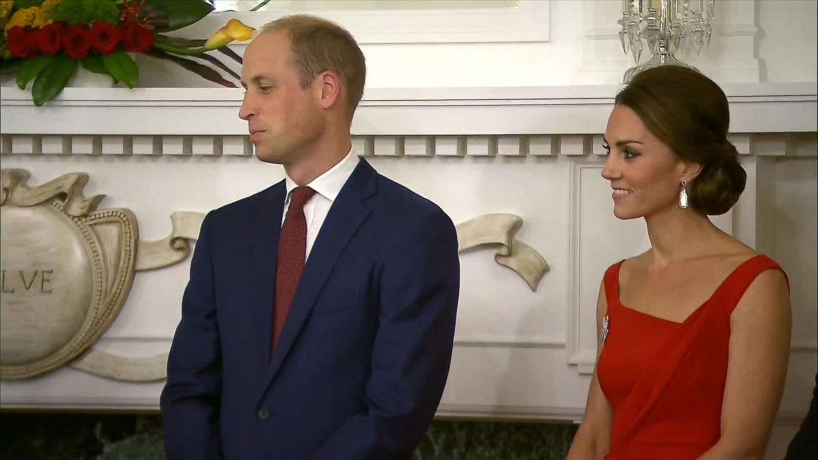 VIDEO: Princess Kate Dazzles in Red Dress