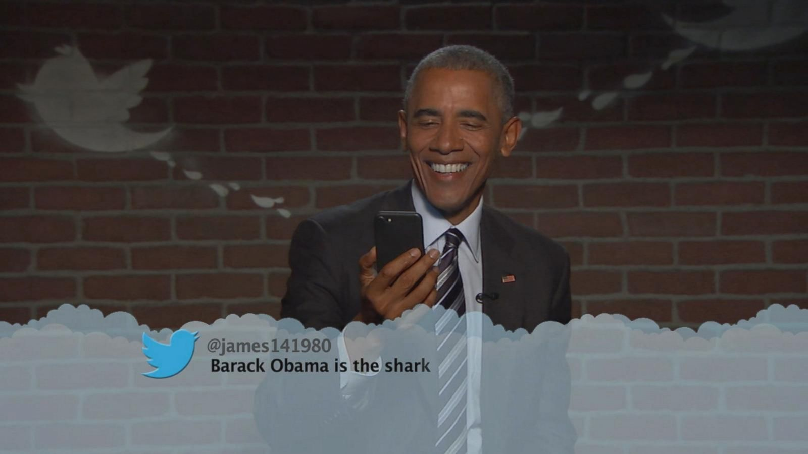 VIDEO: Obama Reads Trump's 'Mean Tweets' on Jimmy Kimmel