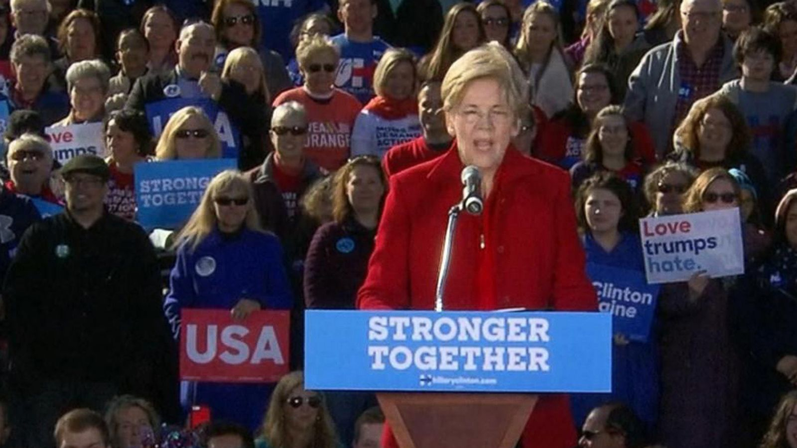 VIDEO: Elizabeth Warren Calls On 'Nasty Women' To Vote For Hillary