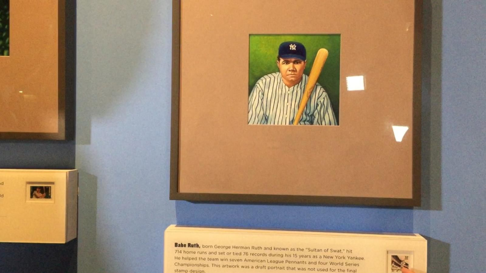 VIDEO: A Look at Vintage Baseball Stamps at the Postal Museum