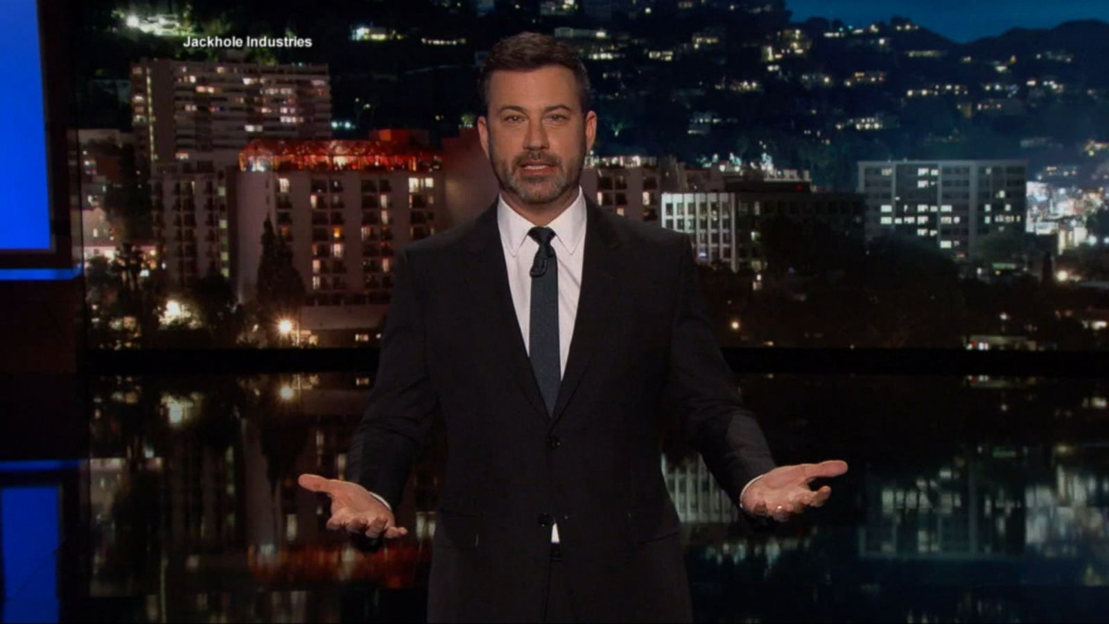 "VIDEO: On Monday, the ""Jimmy Kimmel Live!"" host announced that in addition to hosting the Academy Awards next year, he'll also be a daddy again."