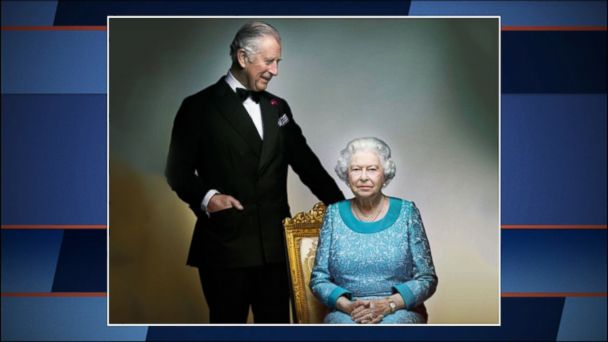 VIDEO: Queen Elizabeth II's photographic portrait unveiled Sunday features a determined look ahead and perhaps the faintest whisper of a Mona Lisa smile.