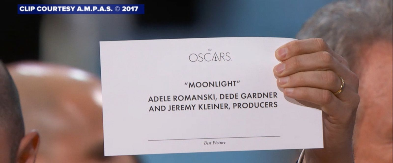 "The presenters read ""La La Land"" right after Emma Stone won best actress for her role in the modern-day musical."