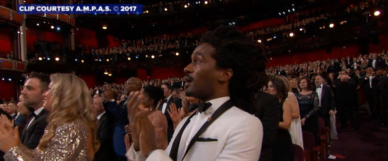 They stood there with their mouths agape, confused at how 'La La Land' could have been named 'Best Picture' when 'Moonlight' actually won - watch the stars react to the mistake during the 89th annual Academy Awards.