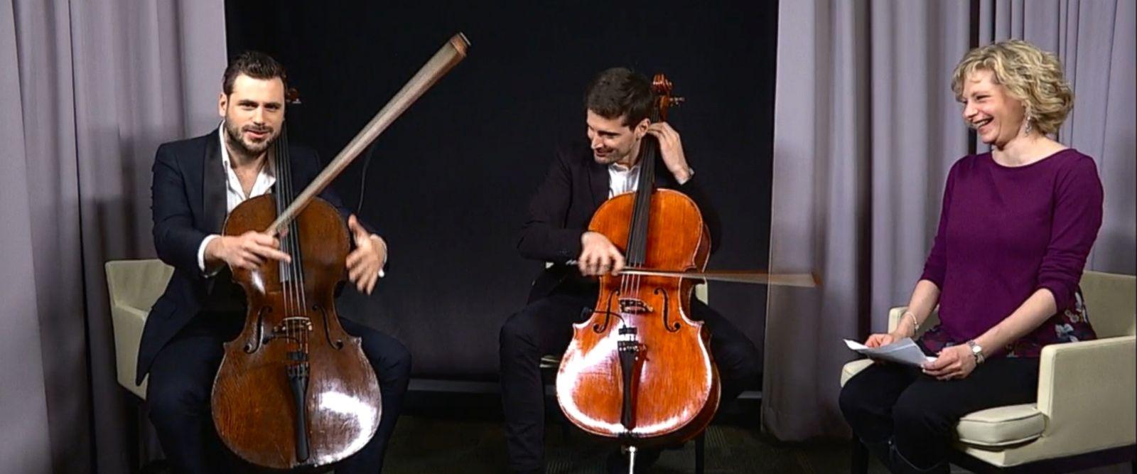 VIDEO: YouTube sensations 2CELLOS on their new album, 'Score'