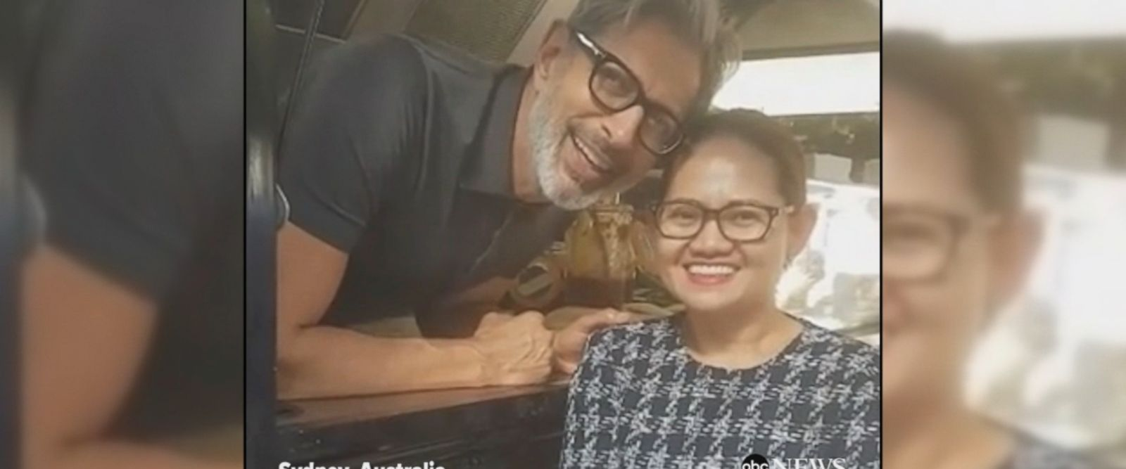 VIDEO: Jeff Goldblum surprised fans with his appearance inside a food truck in Sydney, Australia.