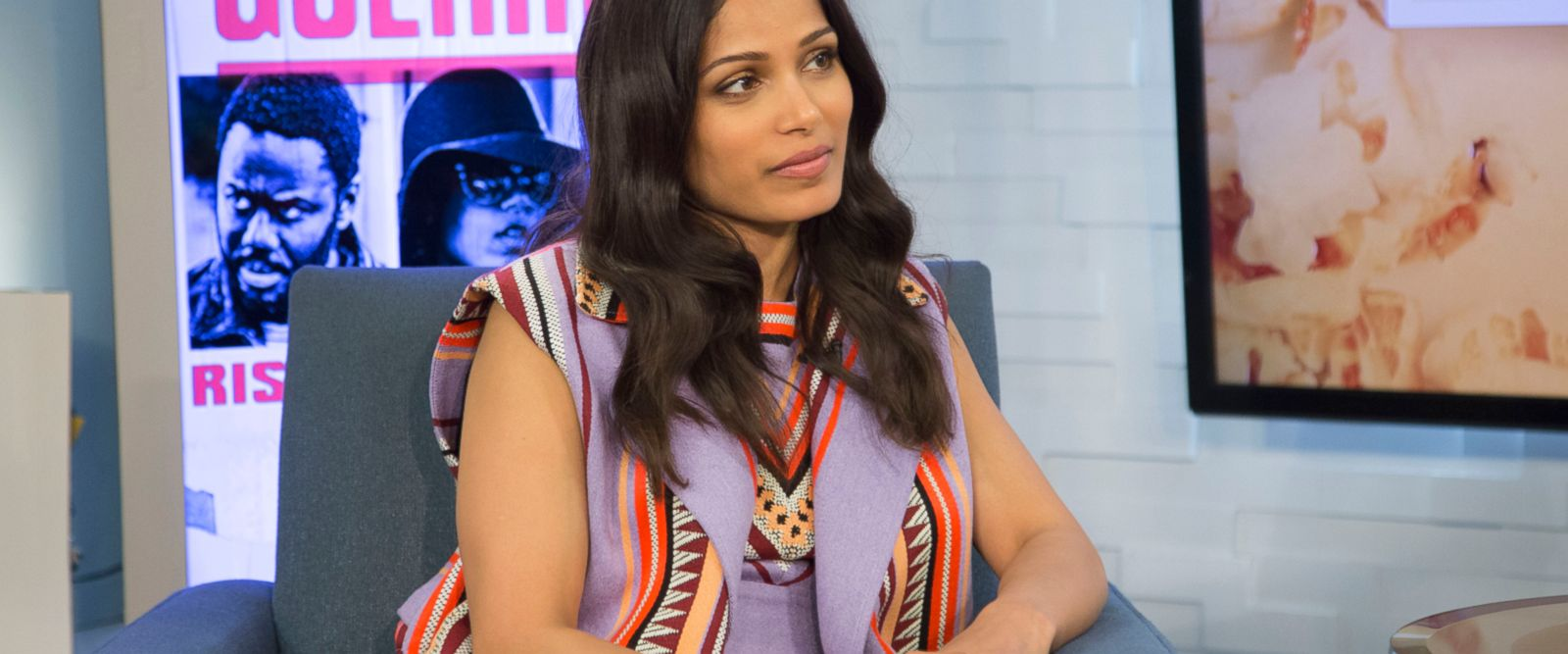 VIDEO: Freida Pinto sings the Kingston Trio's classic folk song 'Hang Down Your Head Tom Dooley'