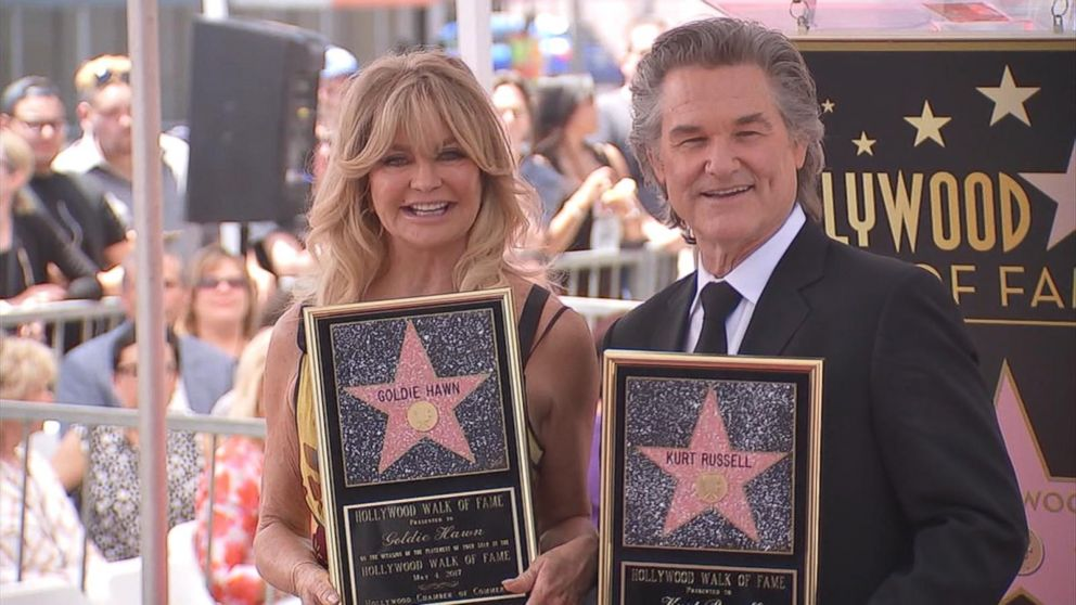 Image result for goldie hawn and kurt russell walk of fame