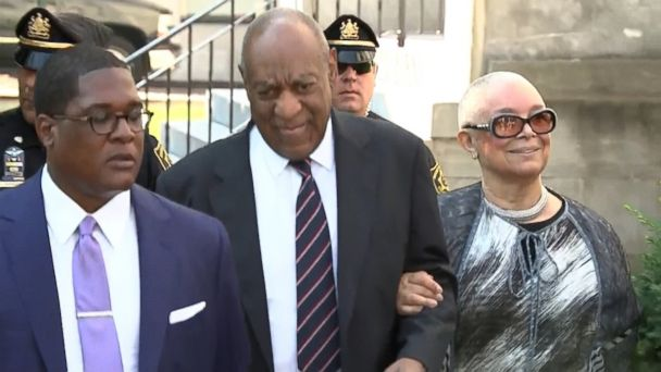 VIDEO: Camille Cosby is on hand for the first time in court since the trial began last Monday.