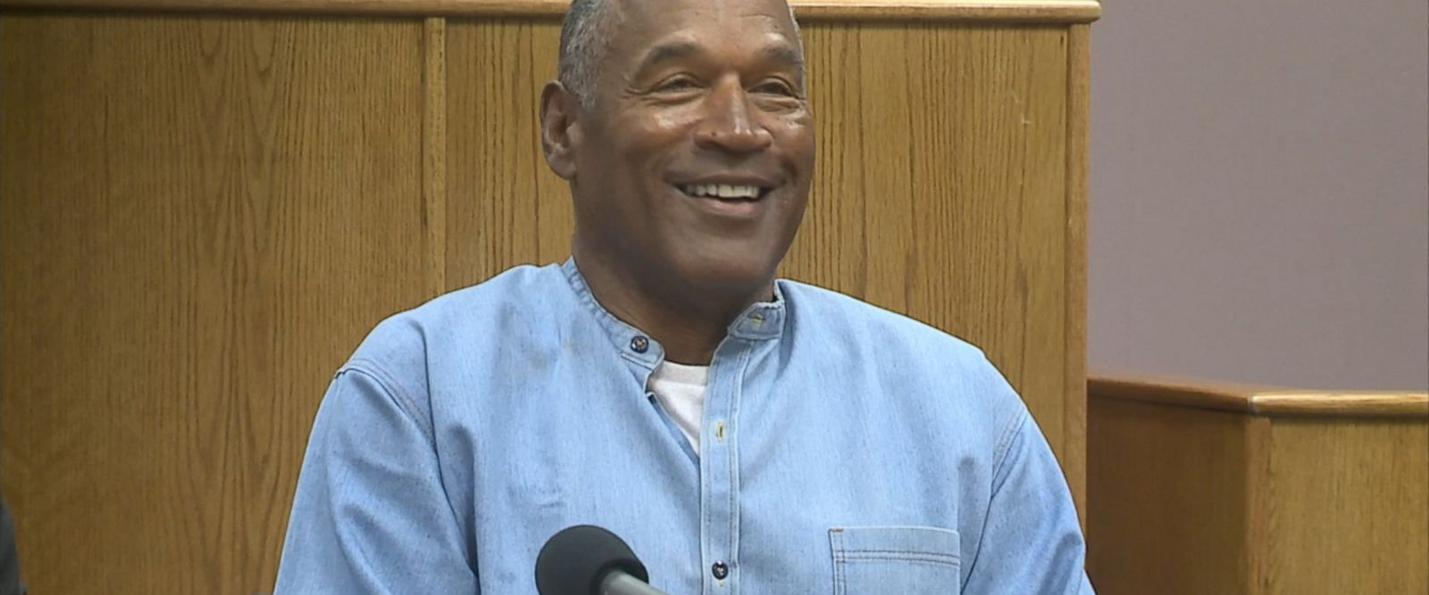 """I'm sorry about that,"" chairman Connie S. Bisbee joked after incorrectly calling OJ Simpson 90 years old instead of 70 years old. ""You look great! How about we take two decades off and call you 70."""