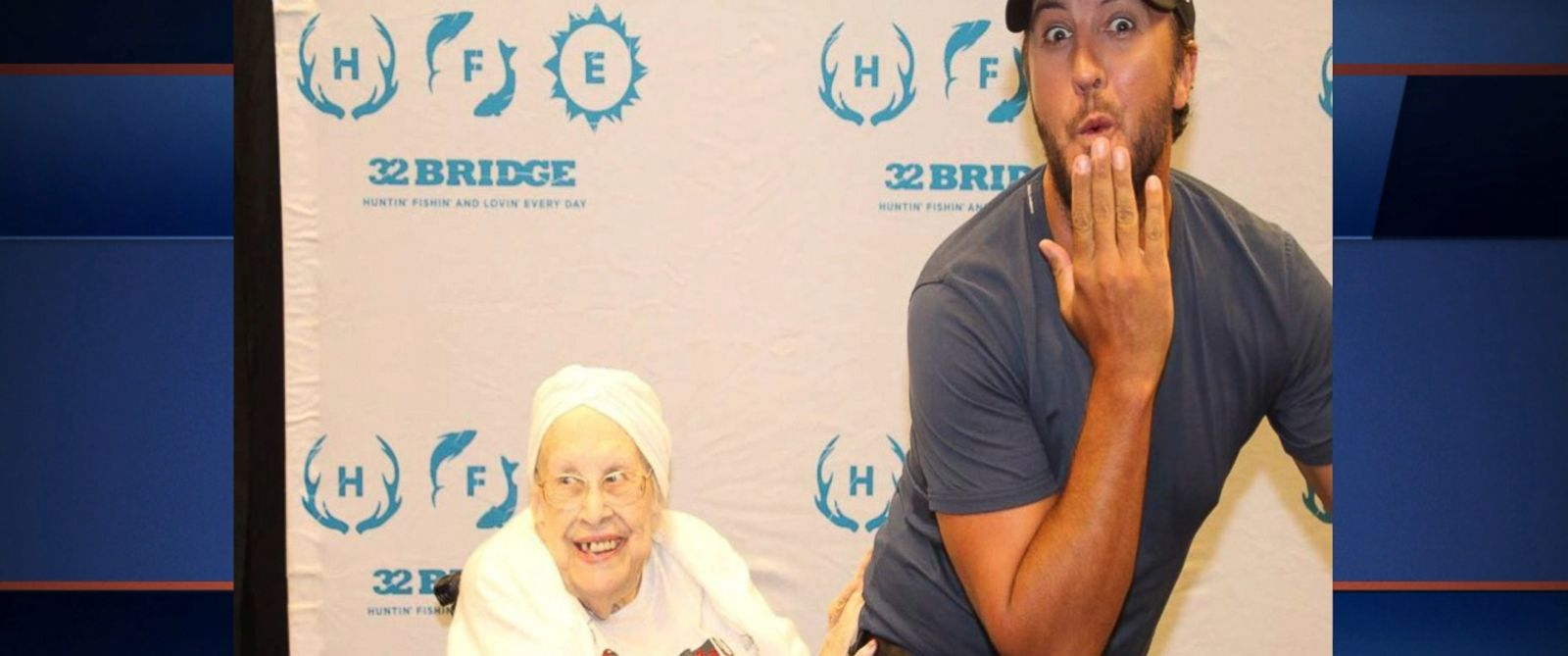 "VIDEO: For 88-year-old Frances Stanaway of Missouri, meeting country star Luke Bryan was the ""night of her life."""