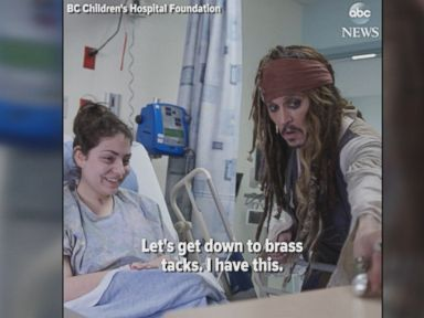 WATCH:  Johnny Depp shows up as Capt. Jack Sparrow at children's hospital