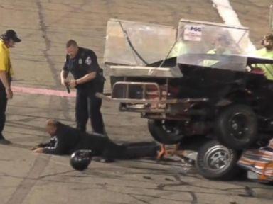 WATCH:  Crash leads to fight, stun gun, arrests on Indiana racetrack
