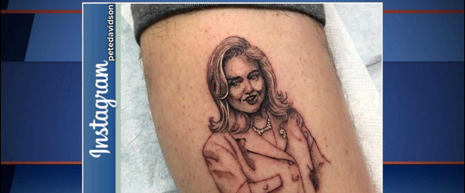 VIDEO: The outspoken Hillary Clinton supporter posted a photo of the permanent ink.