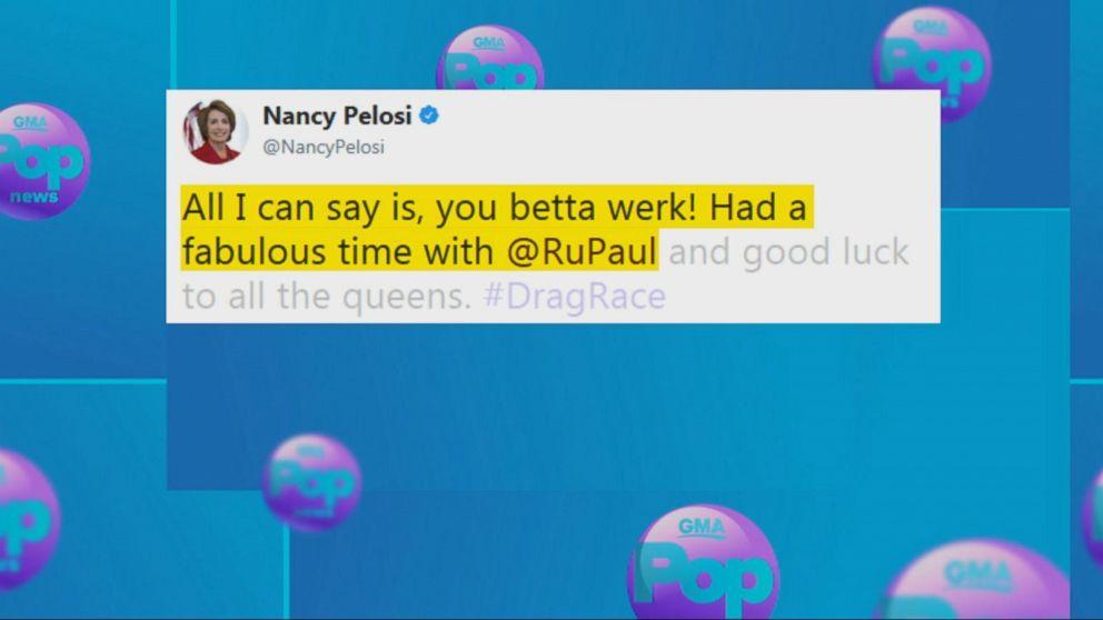 Nancy  Pelosi  will 'werk' as a guest judge on 'RuPaul's Drag Race All Stars'