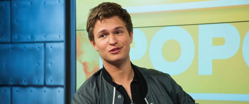 "PHOTO: Ansel Elgort, from ""Baby Drivers,"" appears on ""Popcorn with Peter Travers,"" at the ABC News studios in New York City, June 28, 2017."