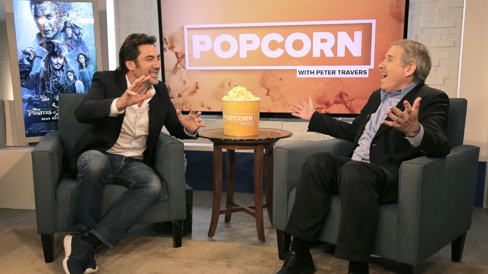 PHOTO: Javier Bardem and Peter Travers at the ABC News studios in New York City, May 23, 2017.
