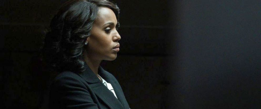 "PHOTO: As the clock ticks down to the inauguration of the first female President of the United States, Olivia, played by Kerry Washington, takes a big risk to ensure Mellies safety, on ""Scandal,"" airing, on May, 18, 2017, on The ABC Television Network."
