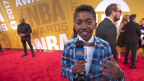 PHOTO: Miles Brown acted as the kid correspondent for