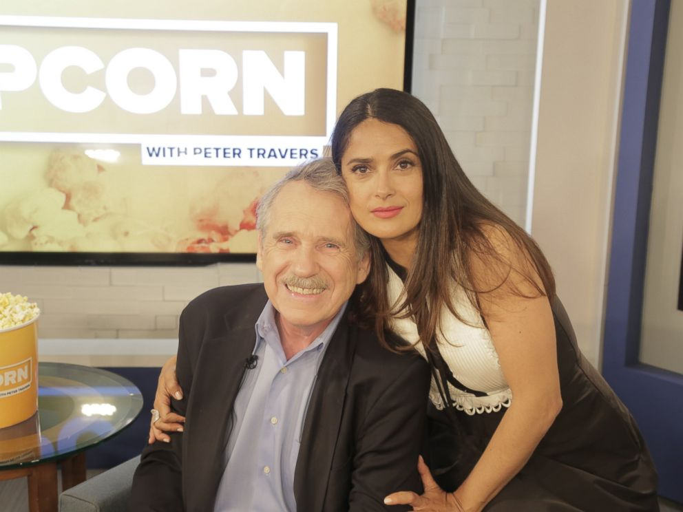 PHOTO: Salma Hayek and Peter Travers at the ABC News studios in New York June 7, 2017.