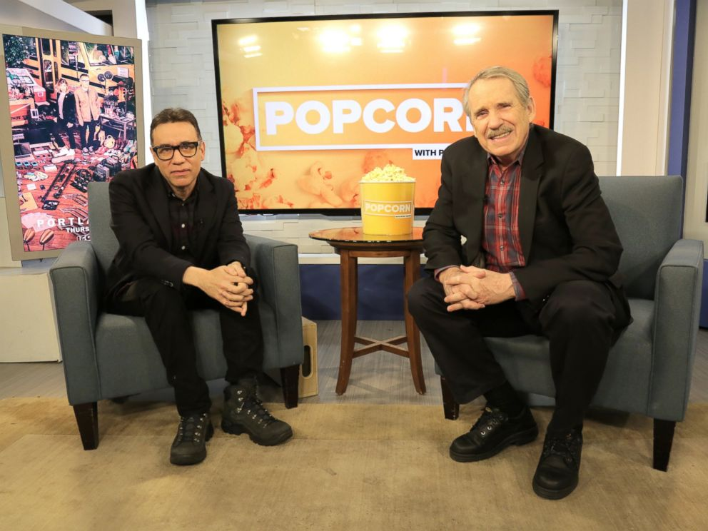 PHOTO: Fred Armisen and Peter Travers are seen here at the ABC News studios in New York, Feb. 9, 2017.