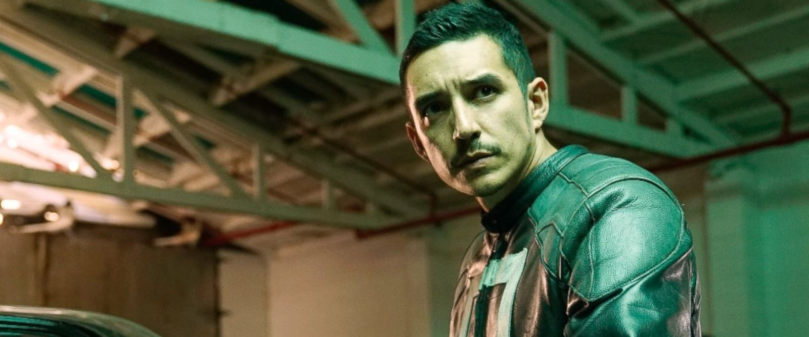 "PHOTO: Gabriel Luna as Ghost Rider in a scene from ""Marvels Agents of S.H.I.E.L.D."""