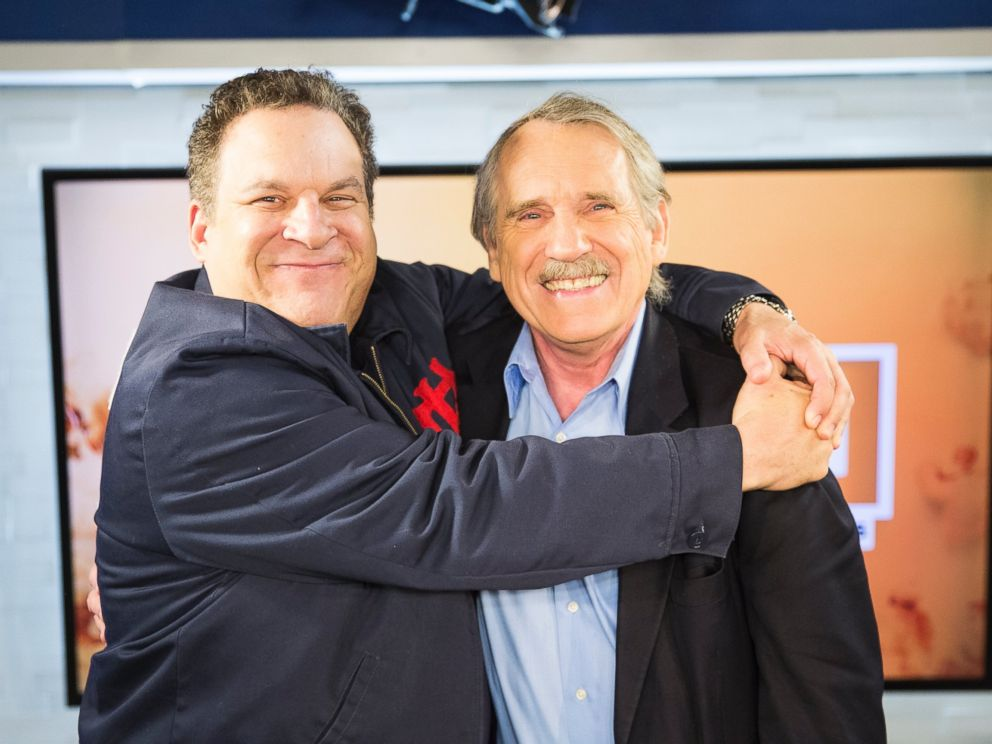 PHOTO: Jeff Garlin and Peter Travers at the ABC News studios in New York, May 3, 2017.